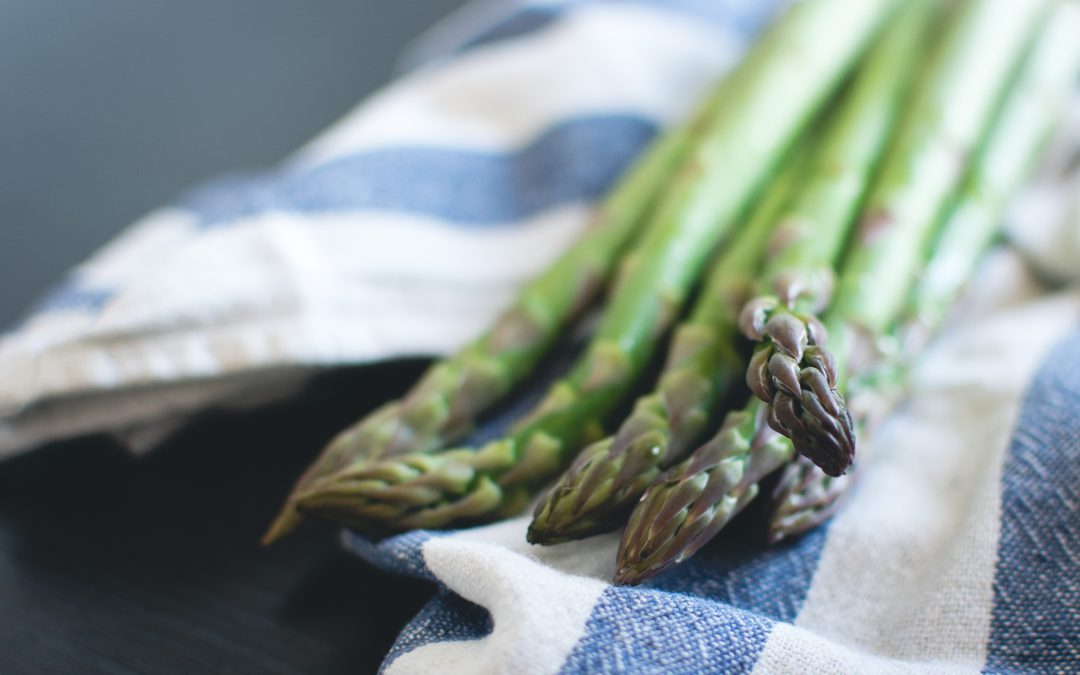 Asperges met risotto