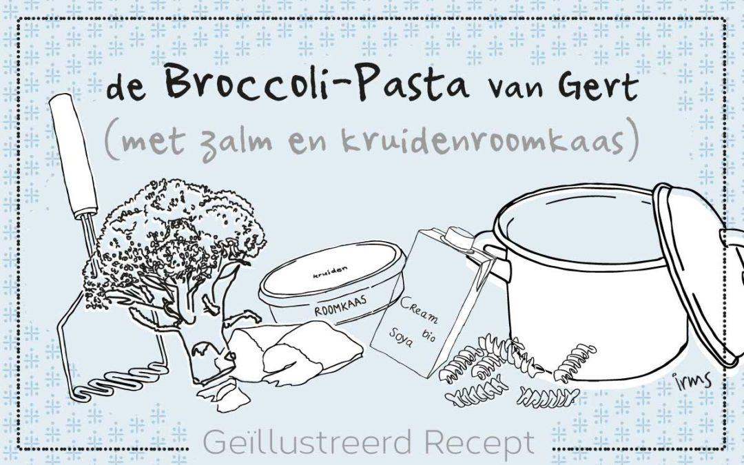 Pasta met broccoli en zalm