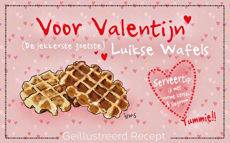 Luikse wafels speciaal voor Valentijn, lekker & zoet