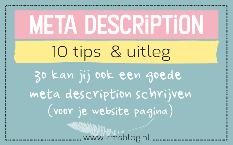 Meta description – 10 tips voor jouw website