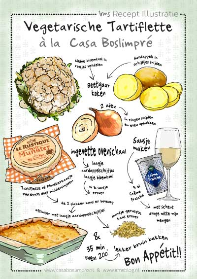 recept-illustratie-vegetarische-tartiflette-irms