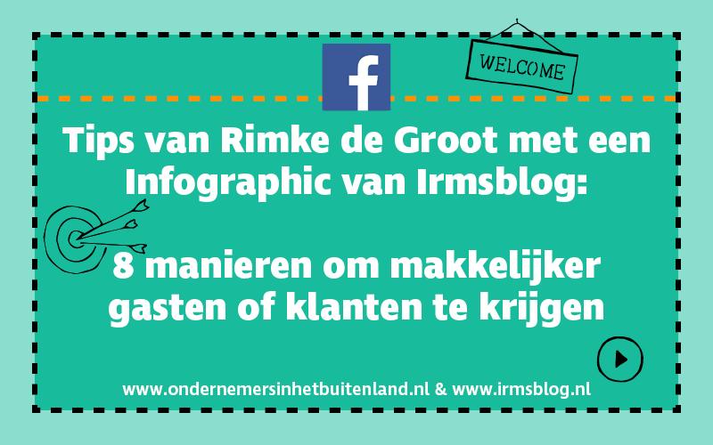 Facebook tips Rimke de Groot met infographic Irmsblog