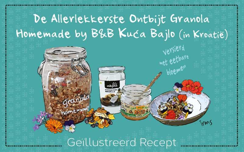 Granola het allerlekkerste recept met eetbare bloemen