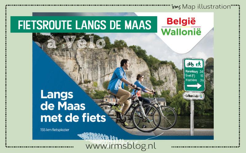 Fietsroute langs de Maas voor Wallonië België Toerisme