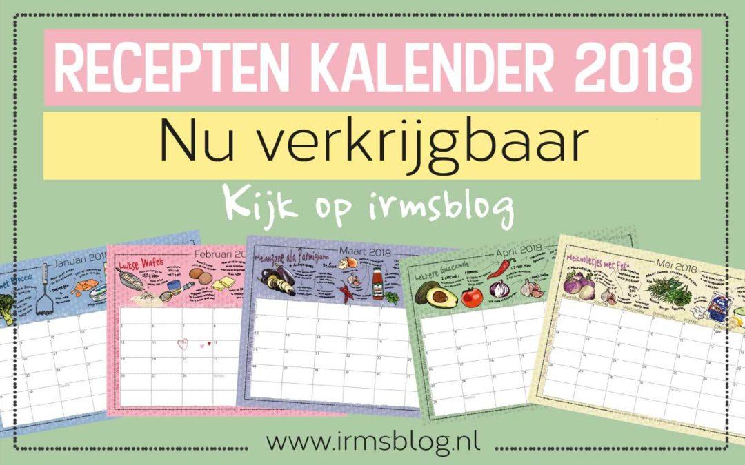 Receptenkalender 2018 van Irmsblog nu verkrijgbaar!