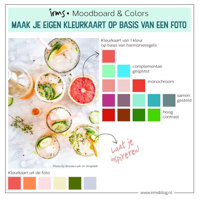 kleurkaart maken van een foto tip van irmsblog