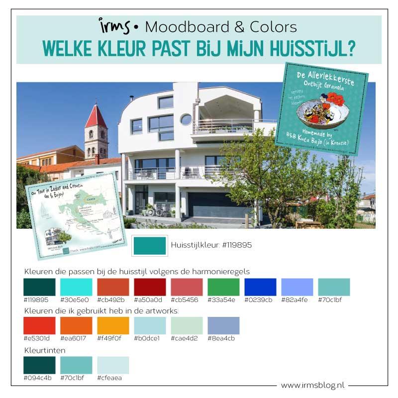 kleurkaart voor B&B Kuca Bajlo