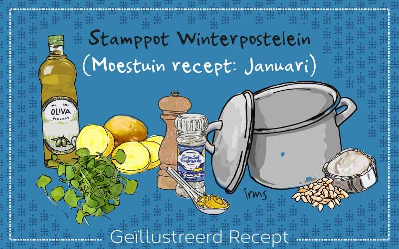 Winterpostelein stamppot: moestuin recept januari