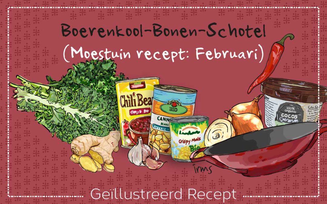 Boerenkool bonen schotel: moestuin recept februari
