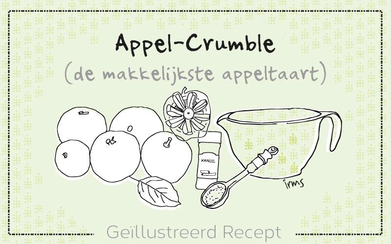 Appel-Crumble, de makkelijkste appeltaart