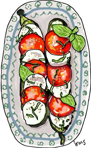 courgette-caprese-illustratie