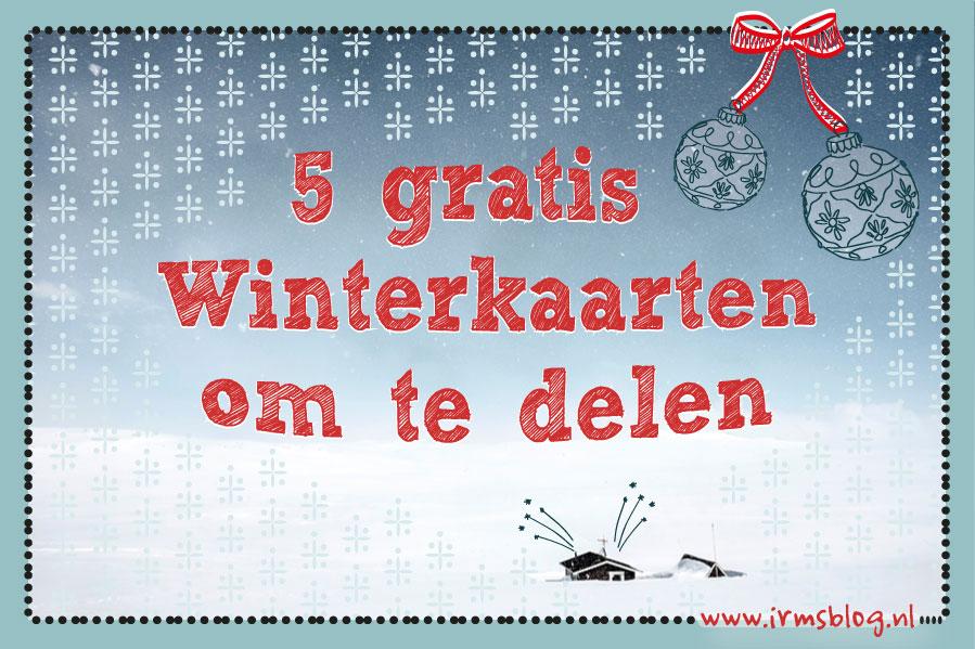 5 gratis winterkaarten om te delen op social media