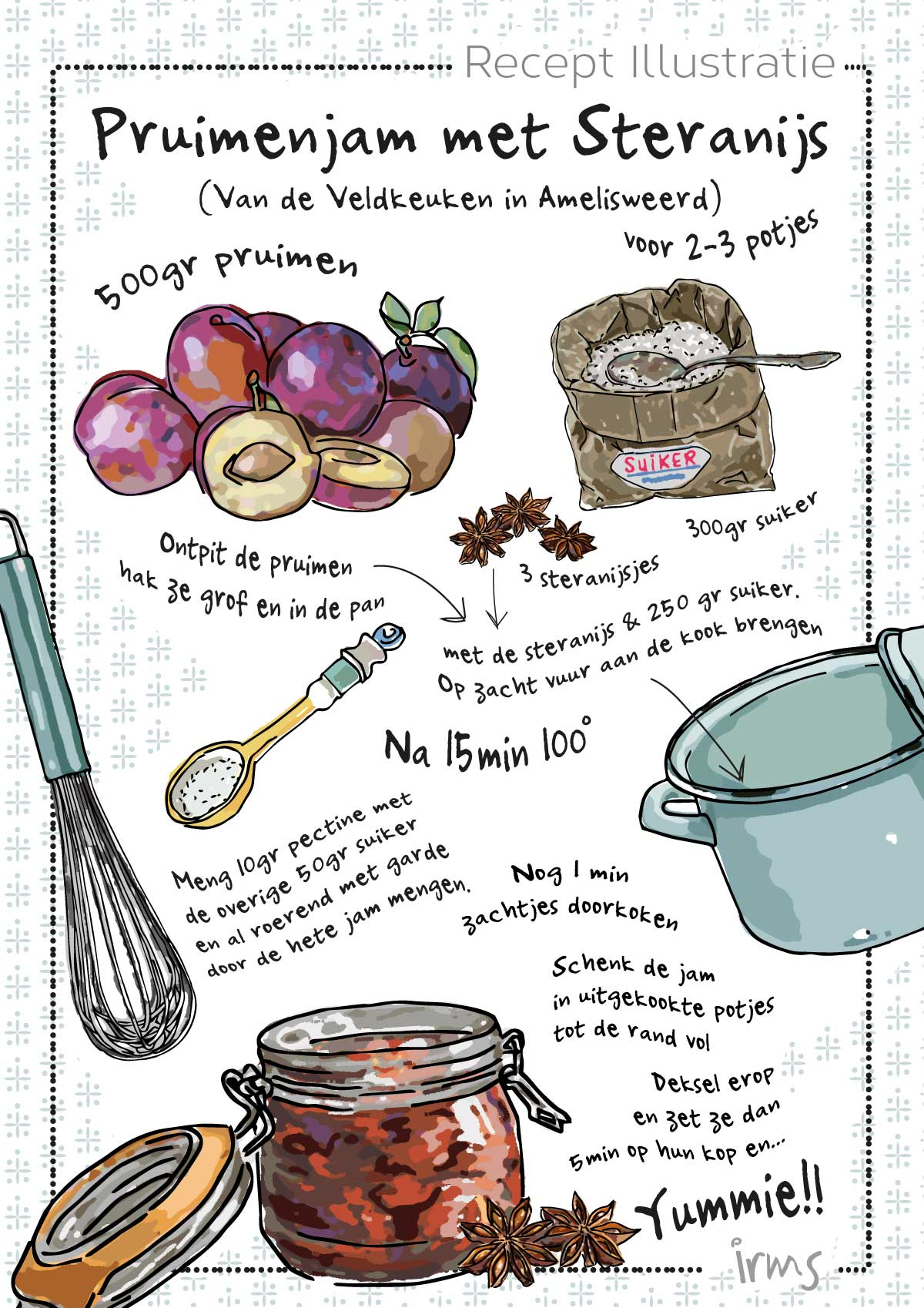 pruimenjam-recept-illustratie