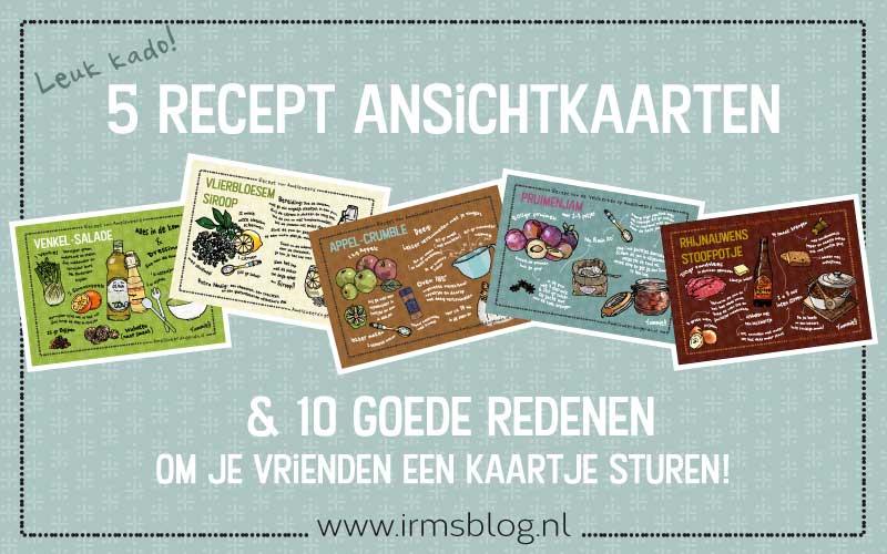 5 recept ansichtkaarten: Stuur een kaartje!