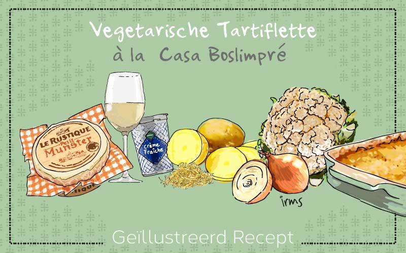 Vegetarische tartiflette à la Casa Boslimpré