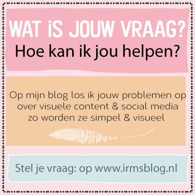 stel jouw vraag op irmsblog