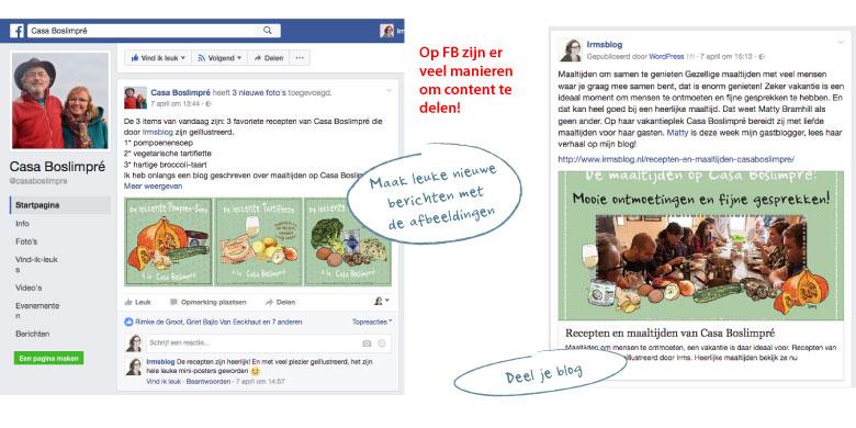 recepten delen facebook