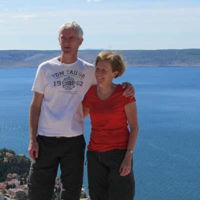 Griet en Anri van B&B Kuca Baljo Kroatie