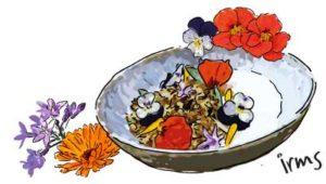 granola-met-eetbare-bloemen