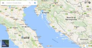 kroatie-google-maps