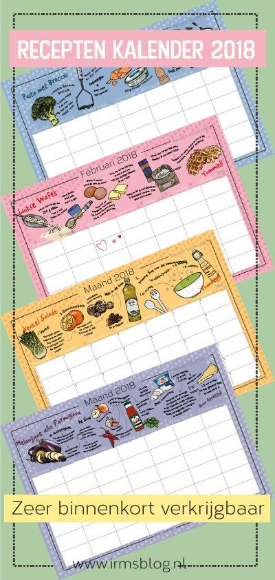 2018 recepten kalender irmsblog