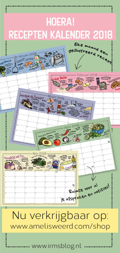 receptenkalender 2018 van irmsblog