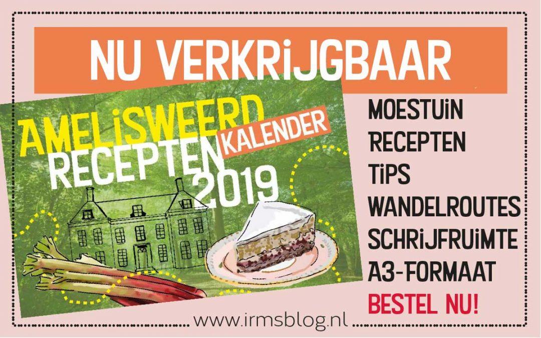 Receptenkalender 2019 van Amelisweerd en irmsblog nu verkrijgbaar