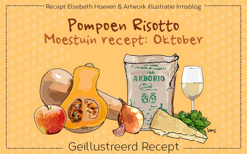 Pompoen risotto moestuin recept oktober