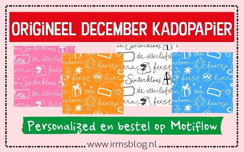 Origineel december kadopapier voor Sinterklaas en kerst
