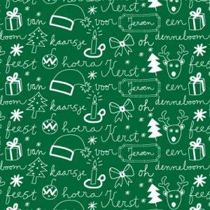 kerst-kadopapier-irms-groen