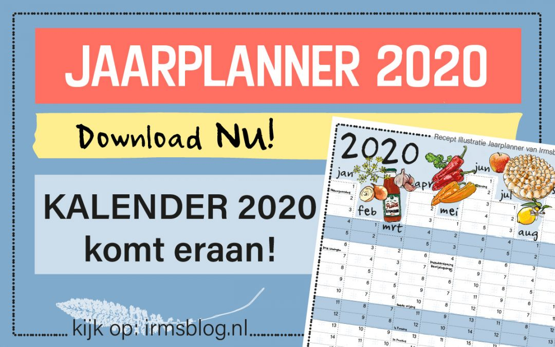 Jaarplanner 2020 gratis download van Irmsblog